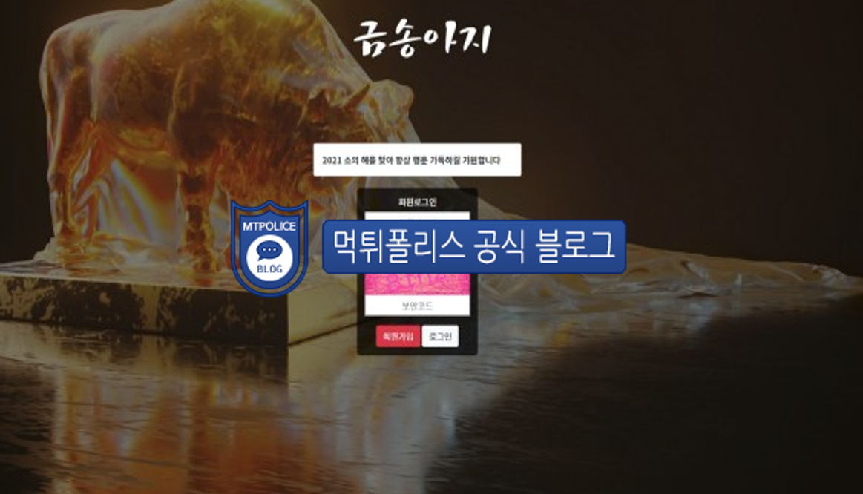 먹튀사이트 금송아지 먹튀검증